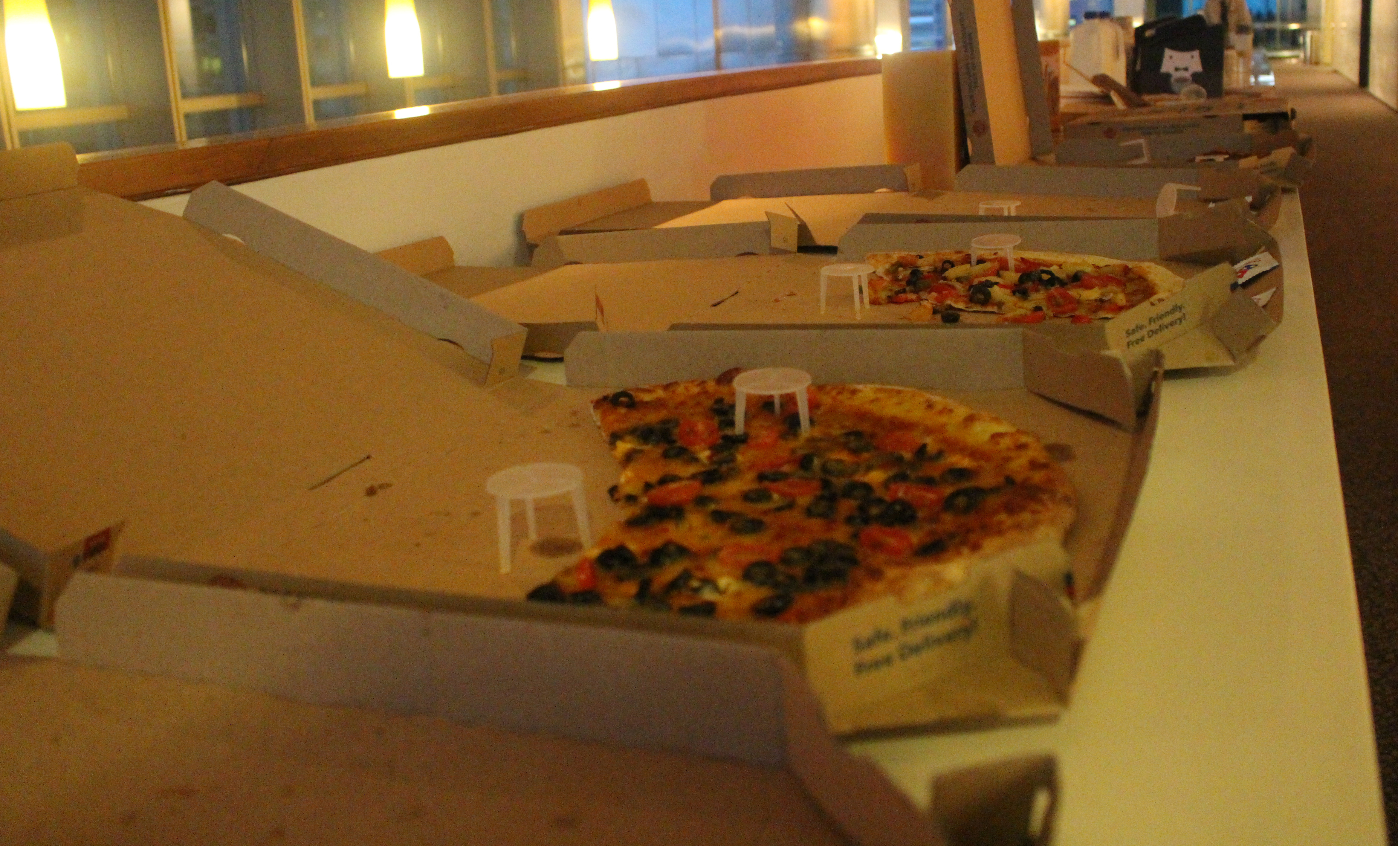 Pizzas and coffees at our Cybersecurity event. Tasty refreshments for all!